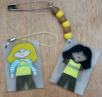brownie tags for mobile phones, key chains, SWAPS etc