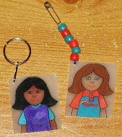 Rainbow shrinkle keyrings